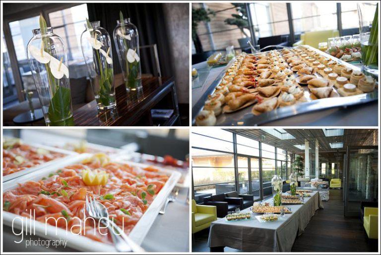 delicious wedding food at Jiva Hill Hotel Geneva by Gill Maheu Photography , photographe de mariage