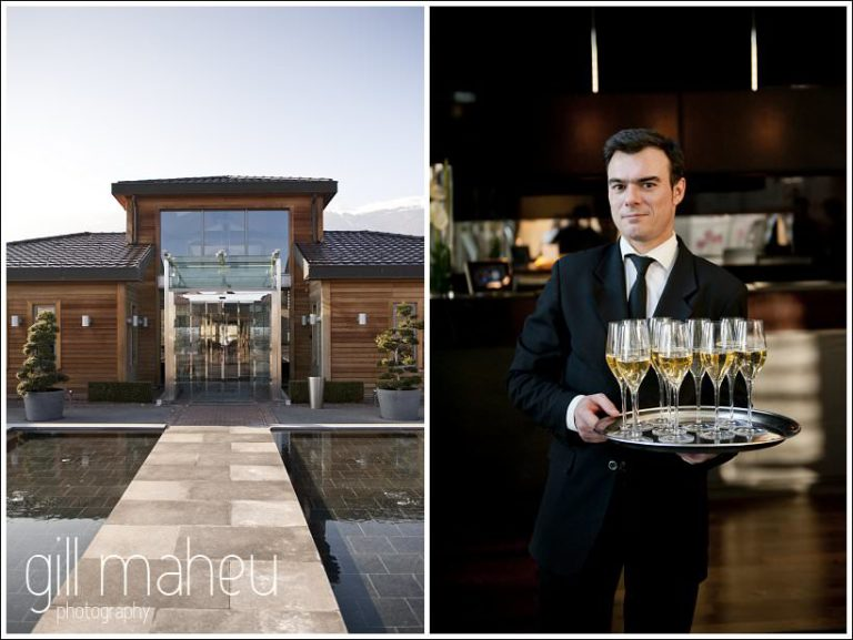 exterieur of jiva Hills Hotel and champagne waiter by Gill Maheu Photography , photographe de mariage