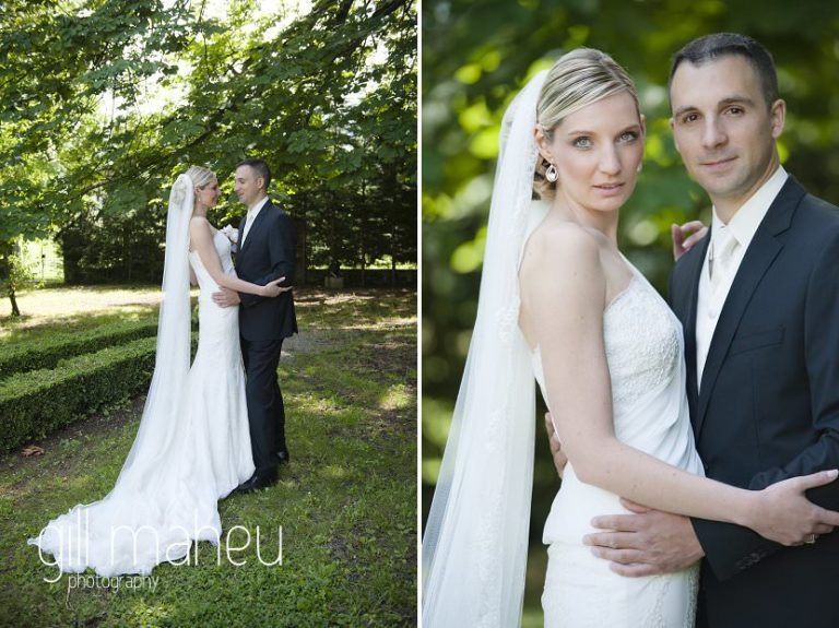 full length portraits of the wedding couple at Hotel Saint Pères wedding by Gill Maheu Photography, photographe de mariage