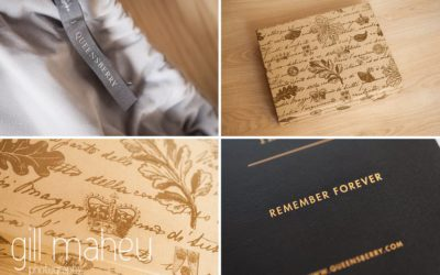 Queensberry wedding album details by Gill Maheu Photography, photographe de mariage