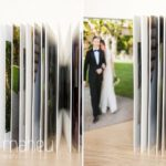 Queensberry wedding album details showing thickness of pages by Gill Maheu Photography, photographe de mariage
