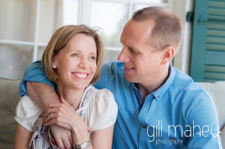 portrait of mum and dad at home in Geneva Geneve by Lifestyle photographer Gill Maheu Photography, photographe de famille