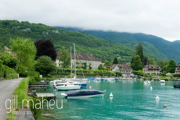 view down the lake of the Abbaye de Talloires, Annecy wedding by Gill Maheu Photography, photographe de mariage
