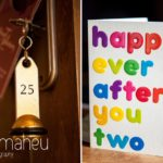 wedding details of key and good luck card at Abbaye de Talloires, Annecy wedding by Gill Maheu Photography, photographe de mariage