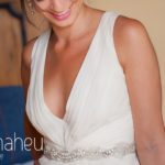 close up detail of neckline of stunning Jenny Packham wedding dress at Abbaye de Talloires, Annecy wedding by Gill Maheu Photography, photographe de mariage