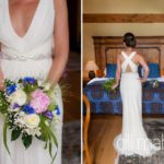 details of beautiful cream Jenny Packham wedding dress at Abbaye de Talloires, Annecy wedding by Gill Maheu Photography, photographe de mariage