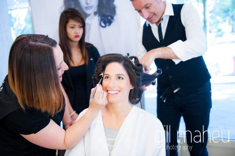 bridal make up at Baron le Tavernier Chexbres civil wedding by Gill Maheu Photography, photographe de mariage