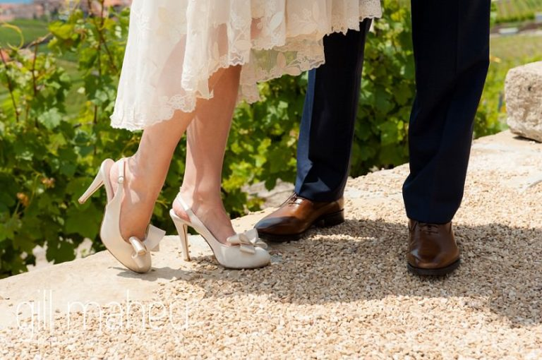 close up of shoes at Baron le Tavernier Chexbres civil wedding by Gill Maheu Photography, photographe de mariage