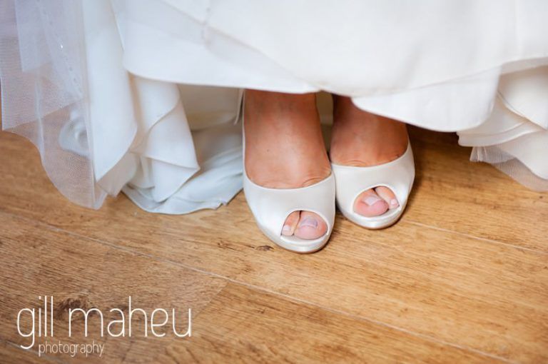 Rainbow wedding shoes at Hotel Imperial Palace, Annecy wedding by Gill Maheu Photography, photographe de mariage