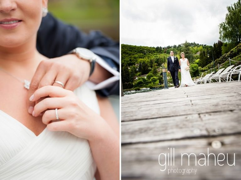 detailed close up shot of wedding rings of happy couple at Abbaye de Talloires, Annecy wedding by Gill Maheu Photography, photographe de mariage