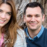 close up portrait of engaged couple  Lake Annecy opposite Talloires, engagement session by Gill Maheu Photography, photographe de mariage