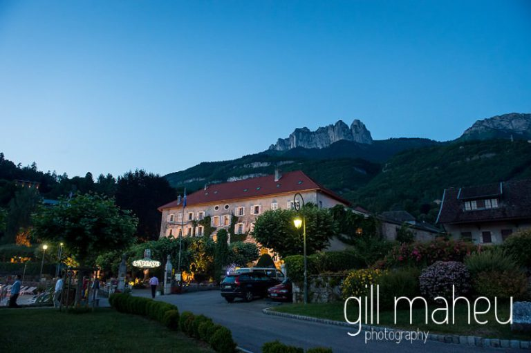 outside view of Abbaye de Talloires, Annecy wedding by Gill Maheu Photography, photographe de mariage