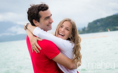 Engagement shoot in paquier, annecy