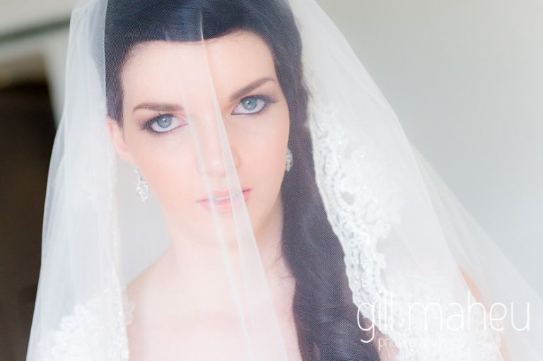 portait of beautiful veiled bride in the Freddie Mercury Suite at the Fairmont Le Montreux Palace, Lake Geneva wedding by Gill Maheu Photography, photographe de mariage