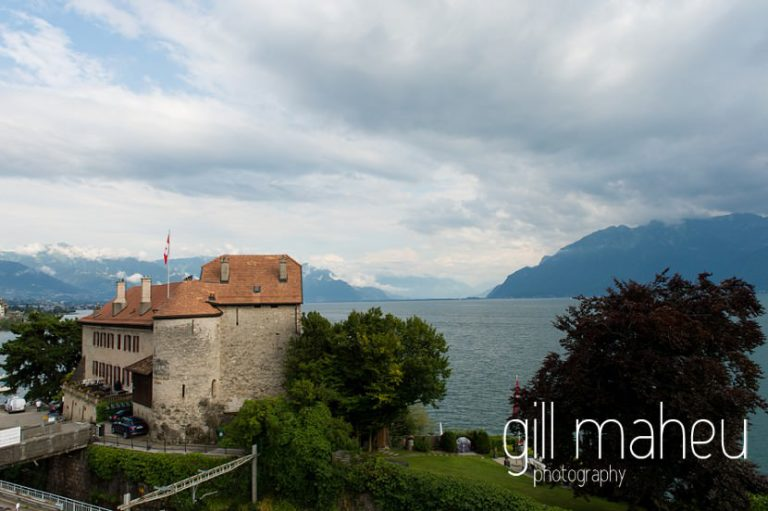 view of theChateau de Glérolles, Lausanne, Lake Geneva wedding by Gill Maheu Photography, photographe de mariage