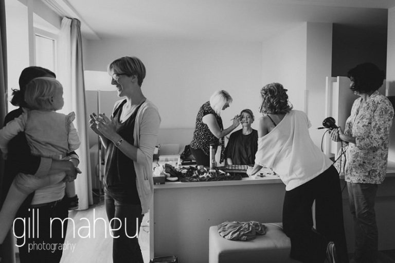 bridal preparations at Hotel Pré-Alpina before St Saphorin, Lake Geneva wedding by Gill Maheu Photography, photographe de mariage