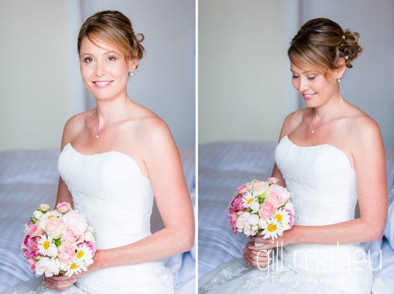 bridal portraits at Hotel Pré Alpina before St Saphorin, Lake Geneva wedding by Gill Maheu Photography, photographe de mariage
