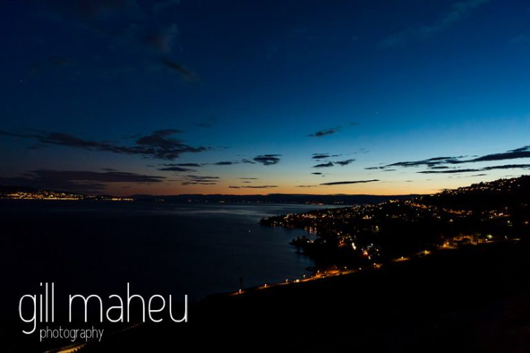 beautiful sunset over Lac Leman at St Saphorin, Lake Geneva wedding by Gill Maheu Photography, photographe de mariage