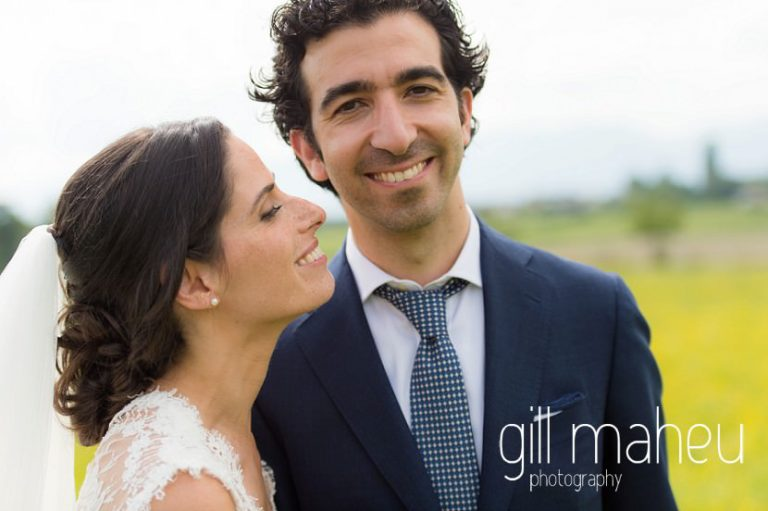 bride smiling up at her groom on Geneva love the dress day after session by Gill Maheu Photography, photographe de mariage