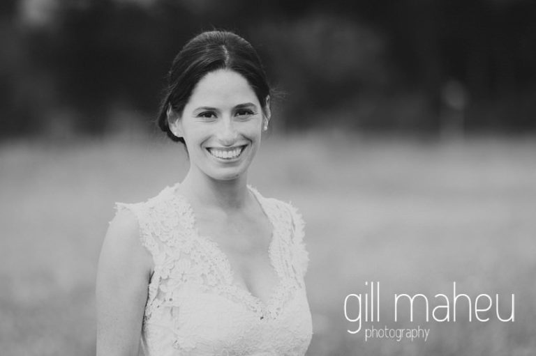 black and white portrait of beautiful bride in Monique l'huillier lace wedding dress on Geneva love the dress day after session by Gill Maheu Photography, photographe de mariage