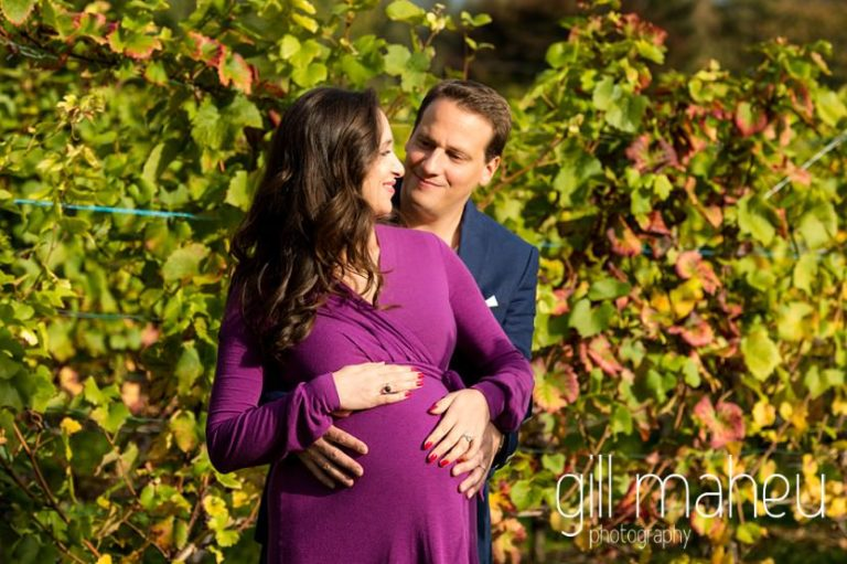 future parents laughing together in maternity session in Collonges, Geneva, by Gill Maheu Photography, photographe de Grossesse et lifestyle