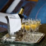 champagne for bridal prepartion party at Abbaye de Talloires, Lake Annecy wedding by Gill Maheu Photography, photographe de mariage