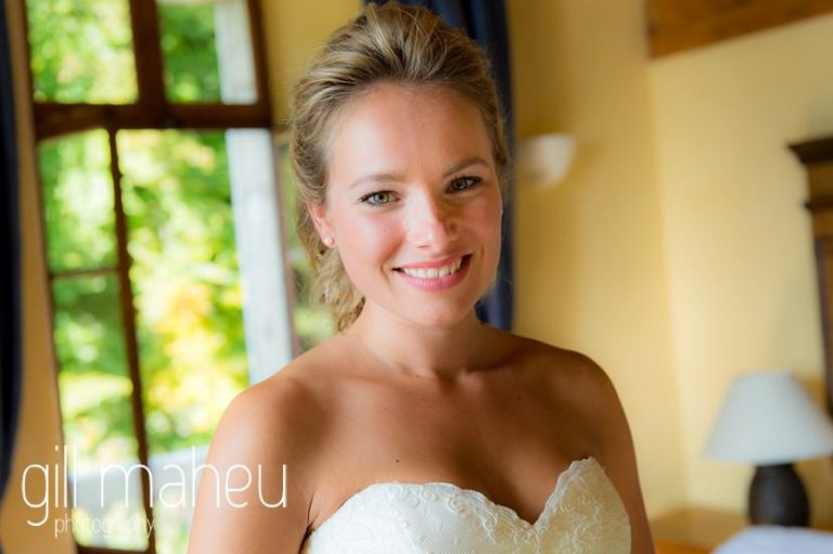 portrait of beautiful bride at Abbaye de Talloires, Lake Annecy wedding by Gill Maheu Photography, photographe de mariage