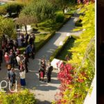 view from the balcony of the suite nuptiale Jean Reno at Abbaye de Talloires, Lake Annecy wedding by Gill Maheu Photography, photographe de mariage