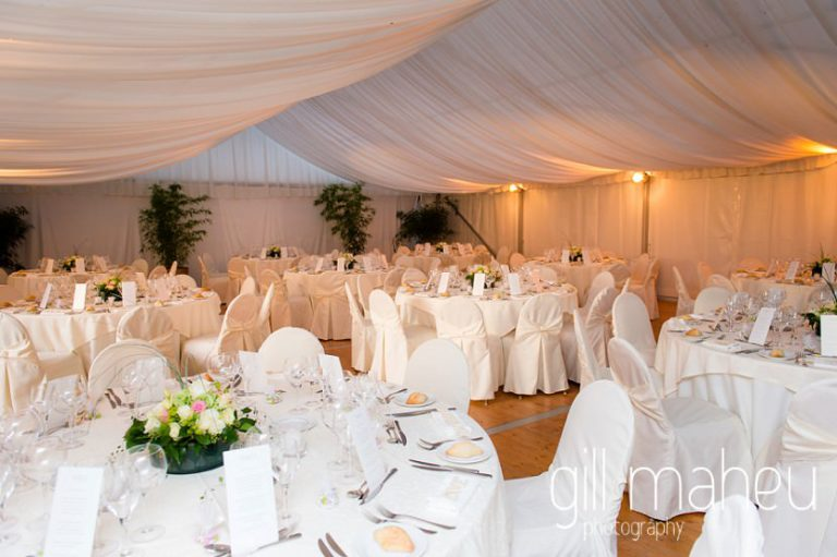 details of the wedding marquee for diner at Abbaye de Talloires, Lake Annecy wedding by Gill Maheu Photography, photographe de mariage