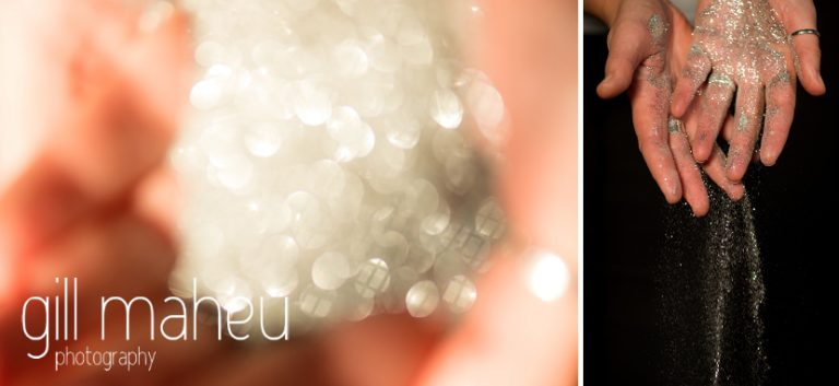 glitter detail at natural light relaxed headshot and branding photography session for young woman entrepreneur by Gill Maheu Photography, photographe de headshot et portrait