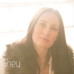 backlit colour portrait at natural relaxed headshot and branding photography session for young woman entrepreneur by Gill Maheu Photography, photographe de headshot et portrait