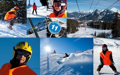 photos d'une sortie de ski à la Margeriaz, Haute Savoie