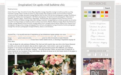publication on 'La Mariée aux Pieds Nus' – a brilliant wedding blog !