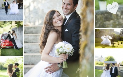 Congratulations to Sonia & Victor – one year ago today – mariage Ferme de Gy
