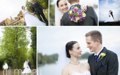Congratulations to Coraline & Michaël – one year already !!!   wedding Nyon, Suisse