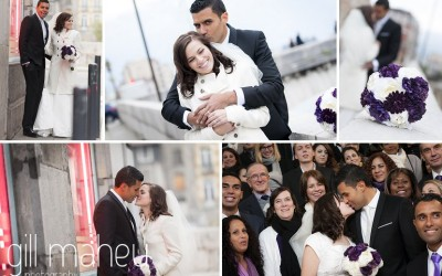 Congratulations to Patricia & Laurent – one year ago today !  wedding Grenoble