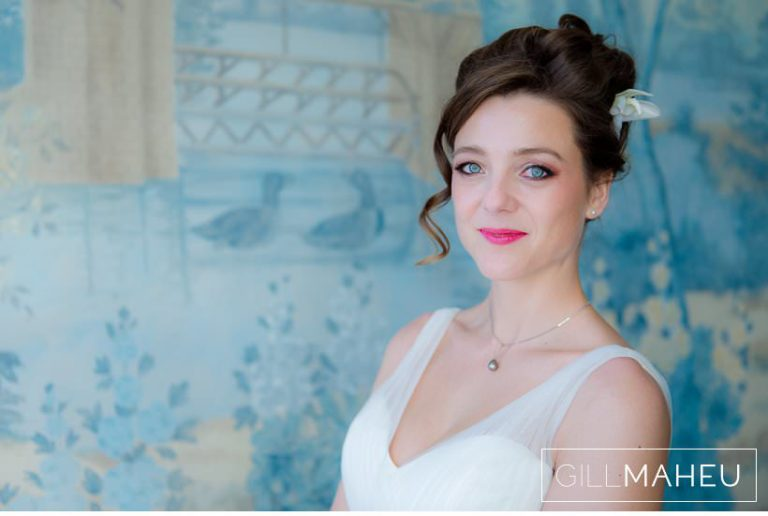 portrait of beautiful bride at Lausanne wedding by Gill Maheu Photography, photographe de mariage