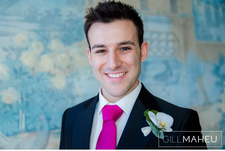handsome portrait of groom at Lausanne wedding by Gill Maheu Photography, photographe de mariage