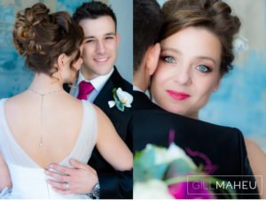 close up portraits of incredibly stylish bride and groom at Lausanne wedding by Gill Maheu Photography, photographe de mariage