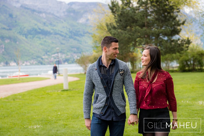 engagement shoot lake annecy