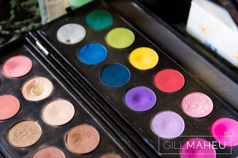 detail shot of a wedding make up palette