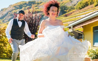 Glorious wedding in the autumn sunshine of the Valais, Switzerland – F&R