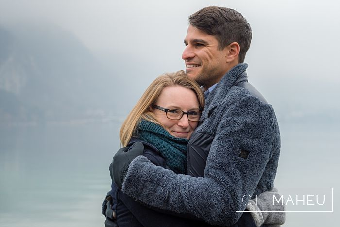 Preview – happy freezing cold engagement shoot – L&T – Annecy