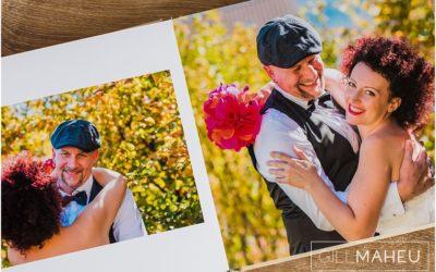 colourful digital art wedding album
