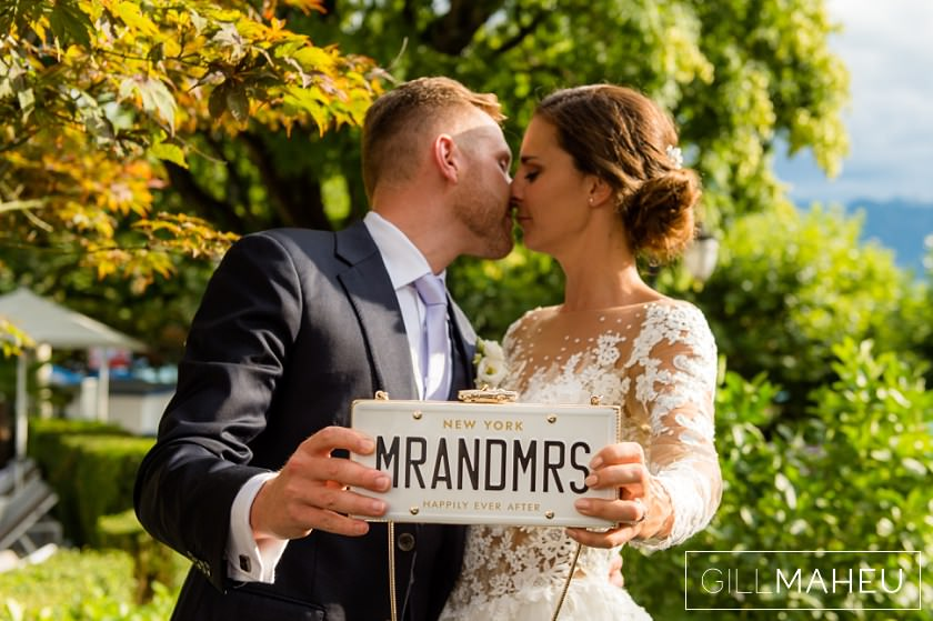 a first 'mr and mrs' kiss - its official now