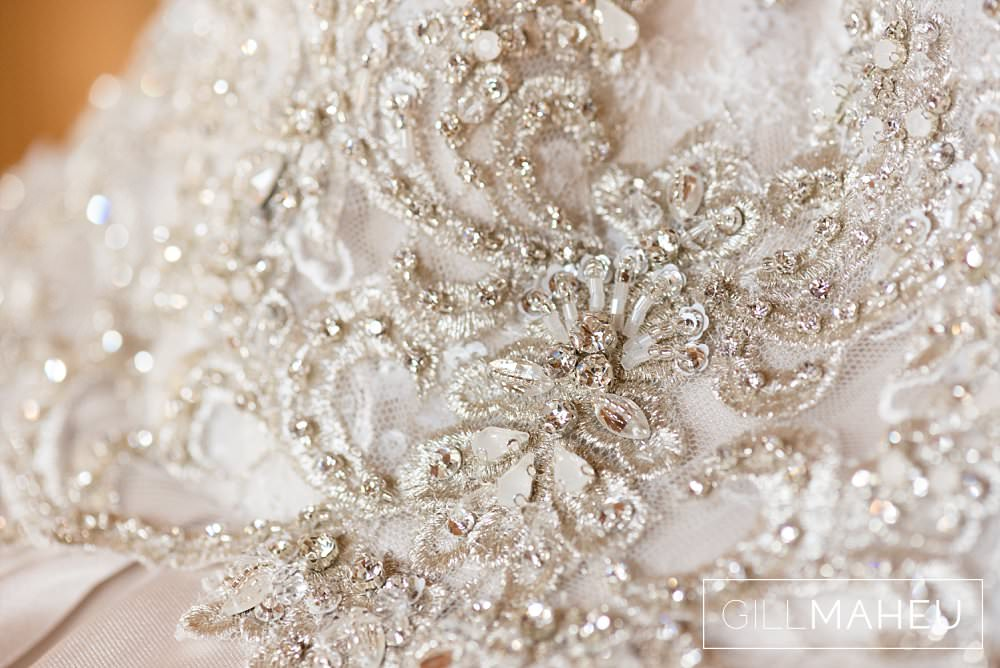 beaded detail of stunning Madison James wedding dress at Abbaye de Talloires, Annecy wedding by Gill Maheu Photography, photographe de mariage