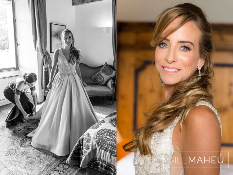 bridal prortaits of the a beautiful happy bride at Abbaye de Talloires, Annecy wedding by Gill Maheu Photography, photographe de mariage