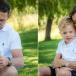 young boy having a cuddle with his lovely daddy at summer sun lifestyle photography session with beautiful young family in Lausanne by Lifestyle photographer Gill Maheu Photography, photographe de famille