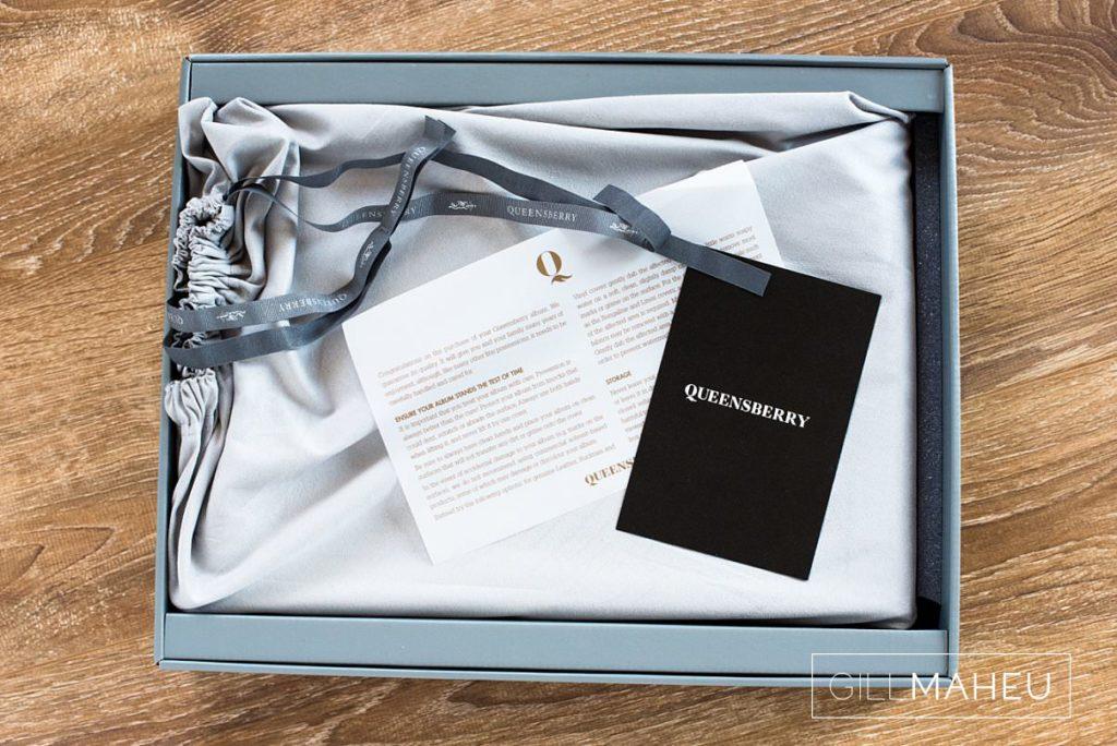details of luxury Queensberry album presentation box for Chateau de Satigny, Geneve wedding by Gill Maheu Photography, photographe de mariage
