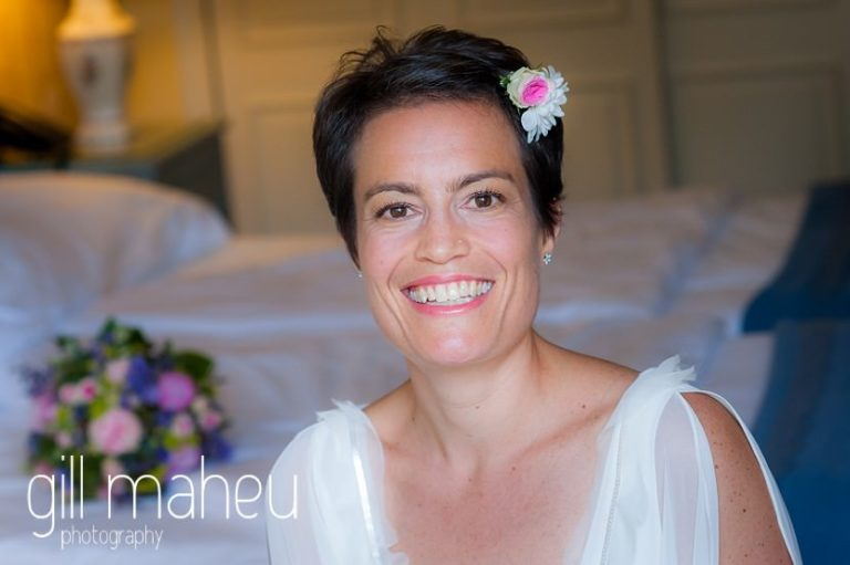 bridal portrait of extremely beautiful bride to be at Chateau de Coppet, Geneva wedding by Gill Maheu Photography, photographe de mariage